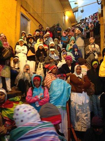 Pilgrims at the summit of Adam's Peak
