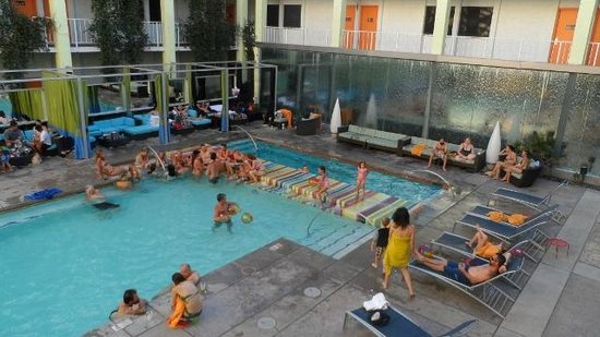The Clarendon Hotel and Spa : A view of the pool at The Clarendon Hotel