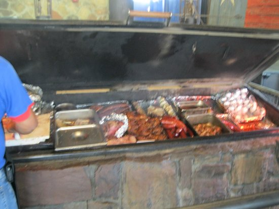 Hard Eight BBQ: Pit full of meat!!