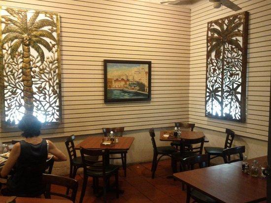 Cafe El Punto : Art almost makes up for no windows and bleak walls/floor.