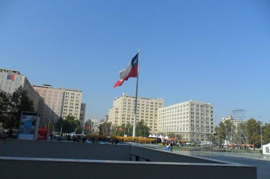 City Inn Apart Home: Palácio La Moneda - Sugestão ir de metrô (muito rápido!!!)