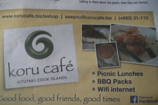 Koru Cafe: Advert for Cafe