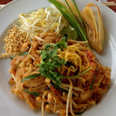 NEXT2 Cafe: Phat Thai Kung - Fried rice noodle, a signature dish in Thailand