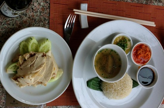 NEXT2 Cafe: Chicken Rice - popular dish in Singapore and Malaysia