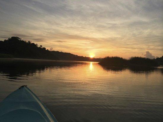 Luna Lodge: Kayaking at sunset!