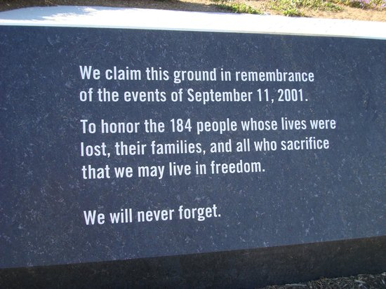 Pentagon Memorial: Memorial