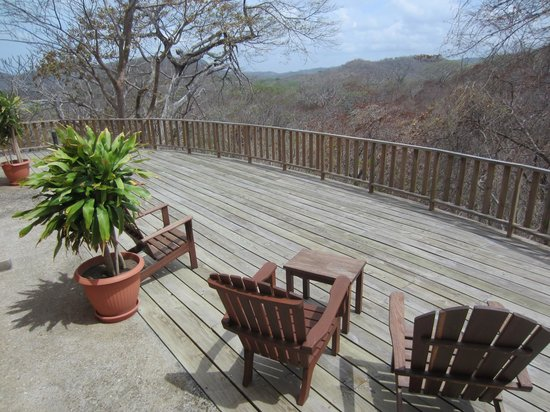 Villas Playa Maderas: Back deck of Villa #2, mountain views