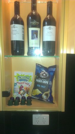 at Waterfront Whitsunday Retreat: Goodies in the minibar