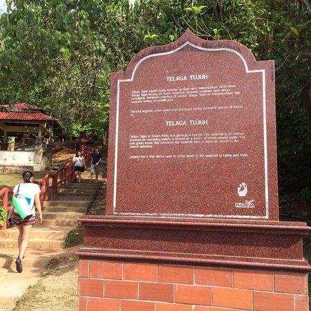 Telaga Tujuh Waterfalls: The start of the climb