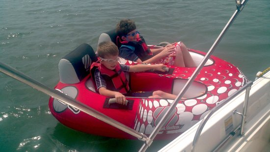 Windy Point Nautical Adventures: Kids love the double tube