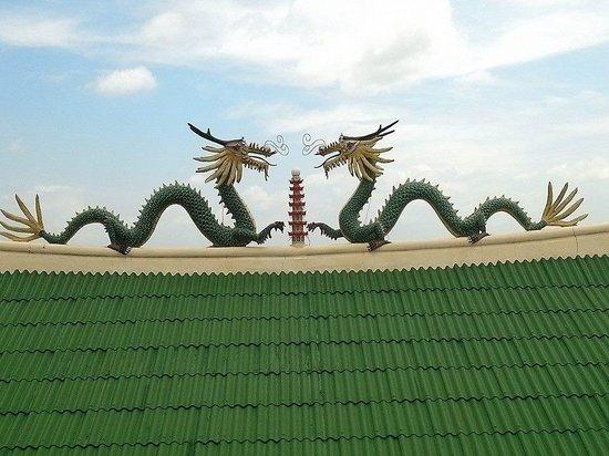 Taoist Temple: 2 dragons