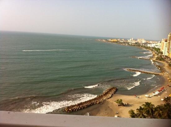 Decameron Cartagena: Maravillosa vista de la habitacion donde estuvimos; piso 15 RECOMENDABLE !!