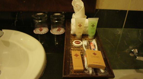 Prince D'Angkor Hotel & Spa: バスルームのアメニティ