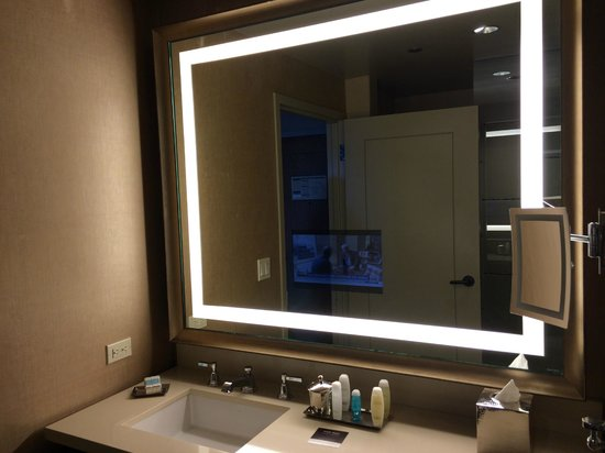 Bathroom Mirrors Dallas bathroom (with tv in mirror) - picture of omni dallas hotel