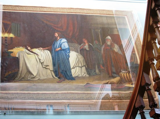 Larnach Castle & Gardens: Painting at top of staircase