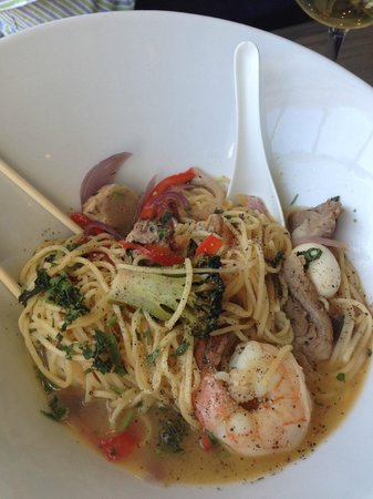 Surf: seafood noodle bowl
