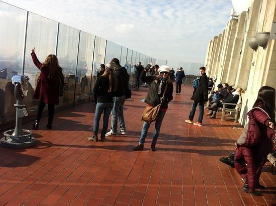 Rockefeller Center: en la terraza