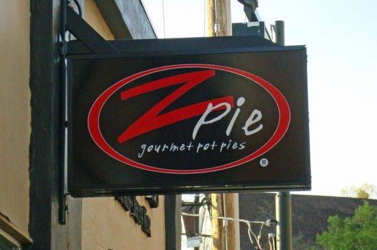 Z-Pie: Restaurant Sign