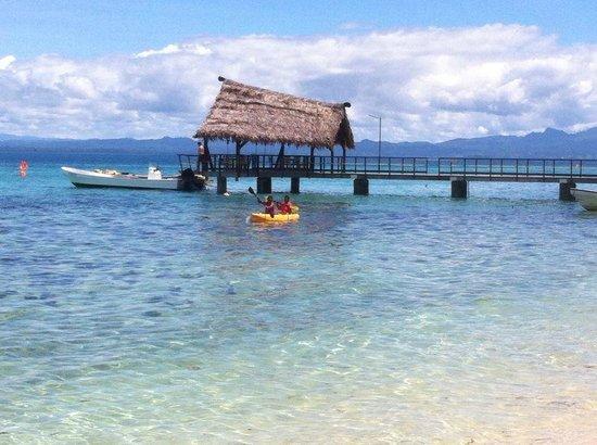 Leleuvia Island Resort: Kayaking at Leleuvia ....