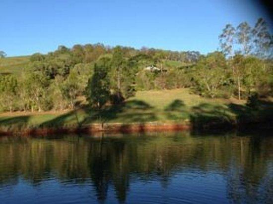 Amamoor Homestead : View across the dam towards the Homestead