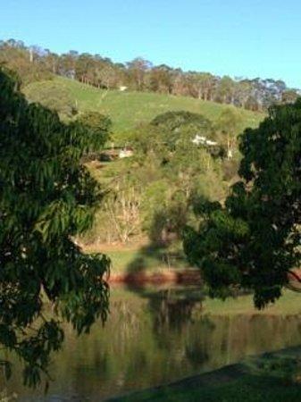 Amamoor Homestead: View across the dam towards the Homestead
