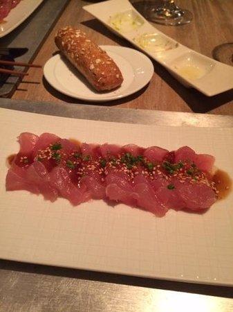 Con Gracia: the divine sashimi with lemon sauce