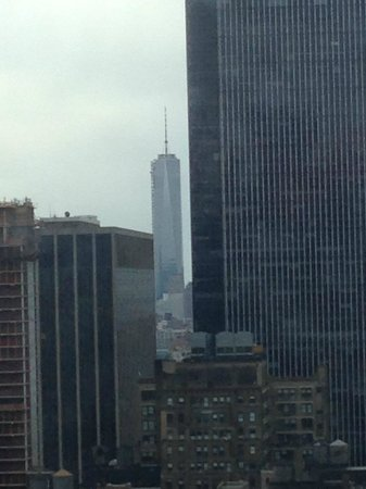 Hilton Times Square : View south from room. World Trade Center.