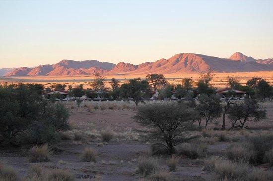 Namib Desert Lodge : ホテルの敷地の外観 裏山からの眺め