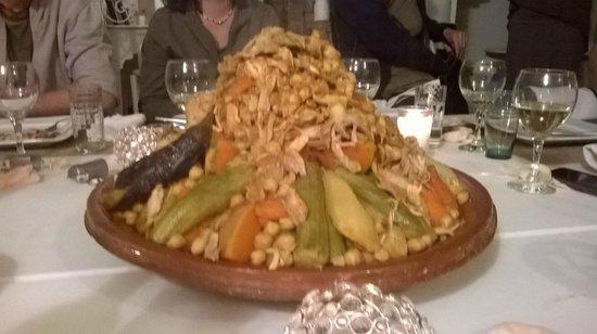 Riad les Orangers d'Alilia Marrakech: Cous cous