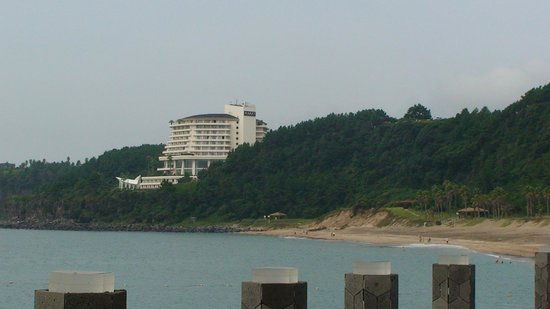 Hyatt Regency Jeju: вид с конца пляжа