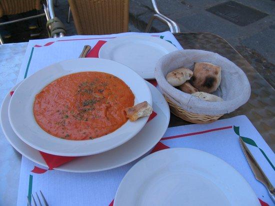 Trattoria Pizzeria DA MARIO Acueducto: Queso fundido.  Can´t remember the Italian name.
