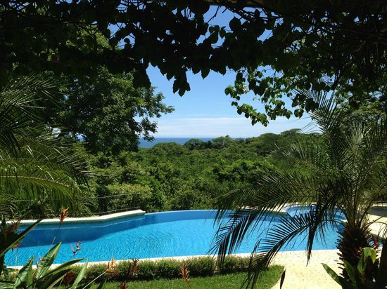 Hotel Luna Azul: A view over the pool to the ocean