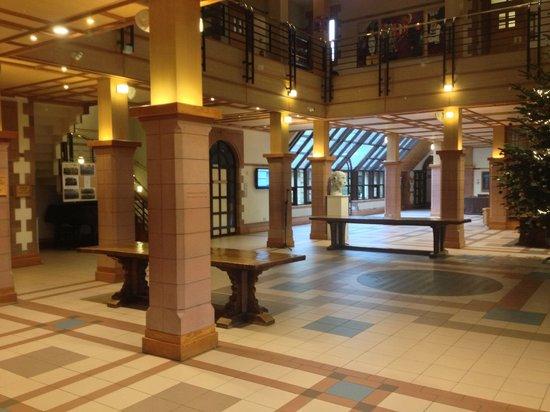 Ampleforth Abbey : The main lobby with Xmas tree!