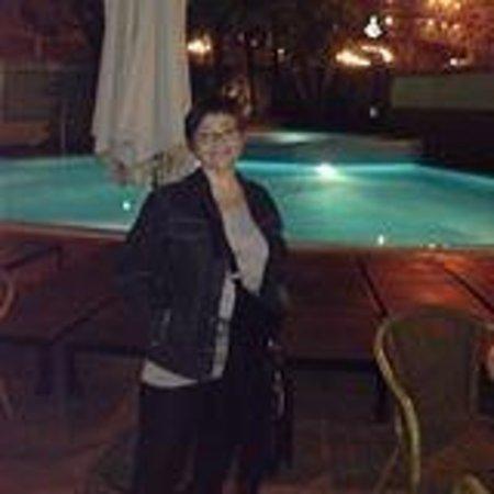 Hotel Acapulco Lloret de Mar: La piscina de noche. Preciosa¡