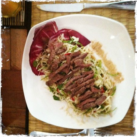 New Leaf Eatery: beef salad