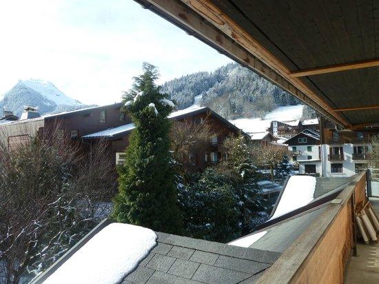 Hotel Les Airelles: Vue de la terrasse de la chambre