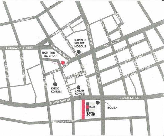 China House location map