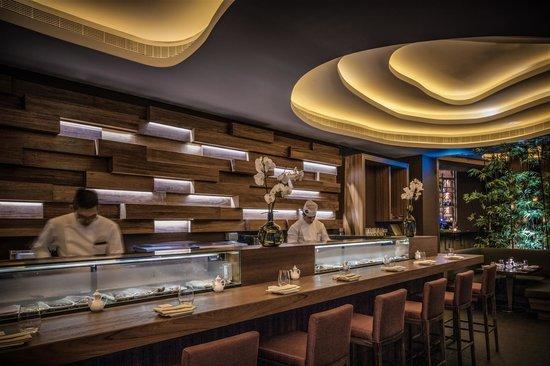 sushi bar picture of koi restaurant lounge abu dhabi