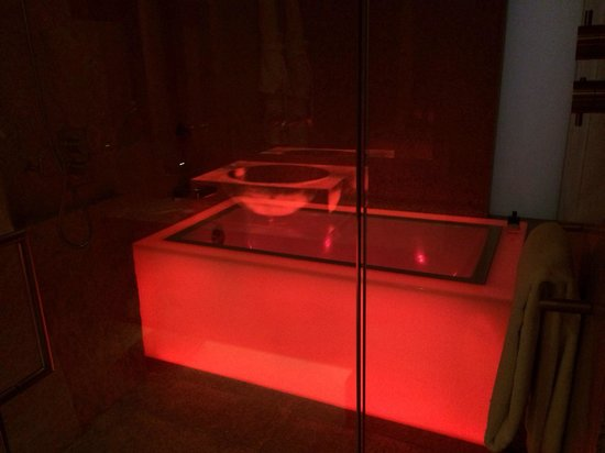 The bathtub with mood light setting - Picture of Andaz Xintiandi ...