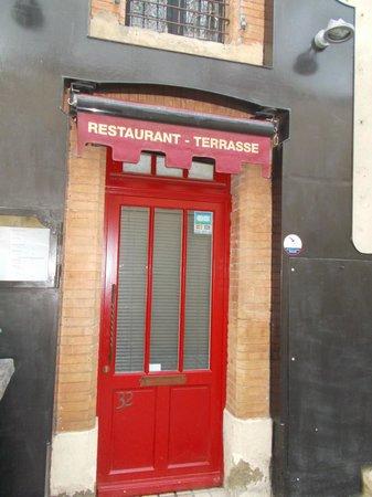 La Table d'Alaïs : entrance door