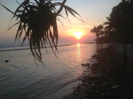 Ayurveda Paragon: sonnenuntergang beim Abendessen