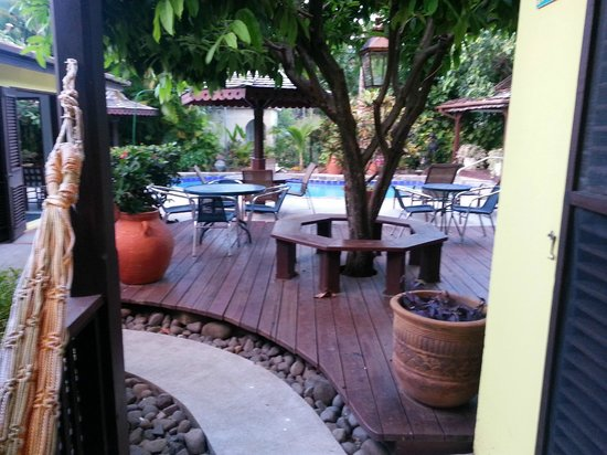 The Ginger Lily Hotel: The Patio area