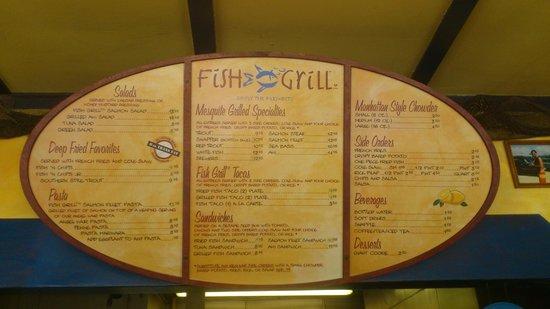 Placa em frente picture of fish grill malibu tripadvisor for California fish grill menu