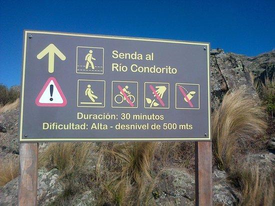 Quebrada del Rio Condorito (Condorito River's Gorge) : Cartelería