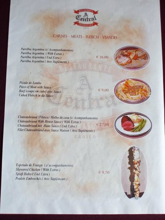 Canico, Portugal: Menu