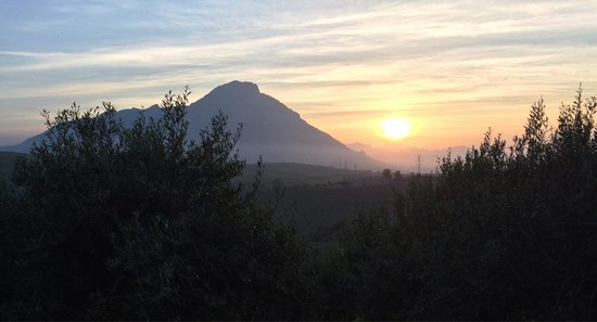 The breathtaking sunset from Terre Di Himera
