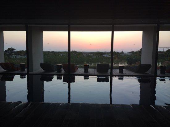 Sofitel Essaouira Mogador Golf & Spa : Coucher de soleil au spa