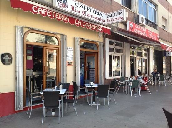 Bar La Caramba. Outside terrace.