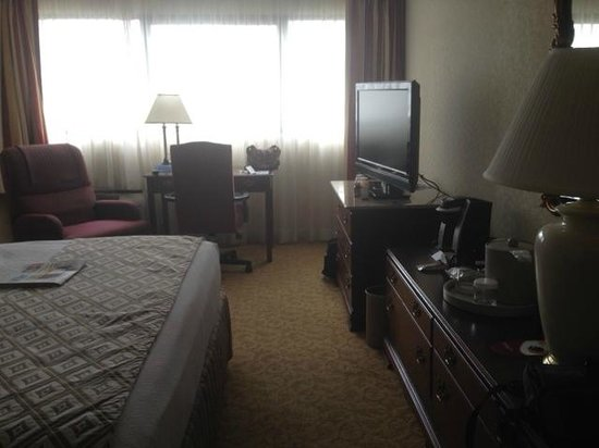 Crowne Plaza Knoxville : Big screen TV, desk/work area