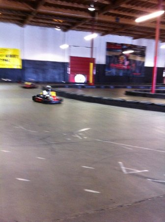 Fast Lap Indoor Kart Racing: Had the place to ourselves!
